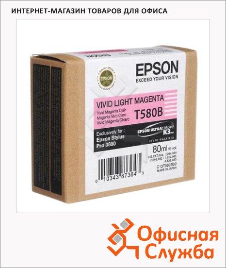 фото: Картридж струйный Epson C13 T580B00 светло-пурпурный