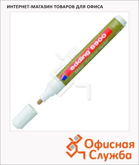 Маркер мебельный Edding 8900 дуб, 1.5-3мм, круглый наконечник, для маскировки трещин на деревянных поверхностях