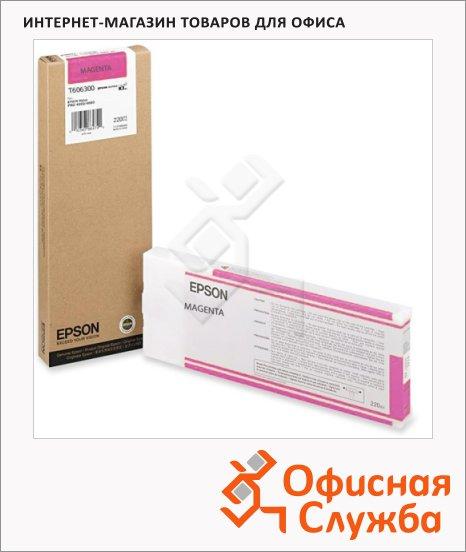 фото: Картридж струйный Epson C13 T606300 пурпурный