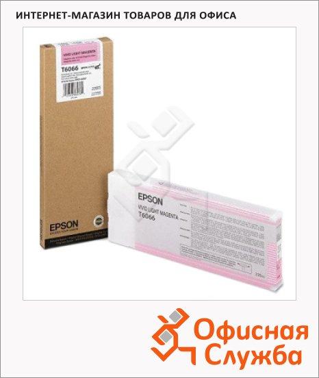 Картридж струйный Epson C13 T606600, светло-пурпурный