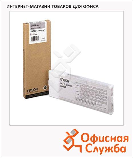 фото: Картридж струйный Epson C13 T606900 светло-серый
