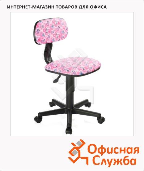 фото: Кресло детское Бюрократ CH-201NX ткань крестовина пластик, розовая, куколки