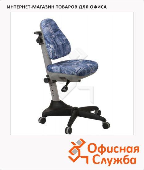Кресло детское Бюрократ KD-2 ткань, крестовина пластик, джинса, серая