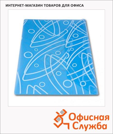 фото: Папка-конверт на кнопке Бюрократ Galaxy синяя А4, GA801BLUE