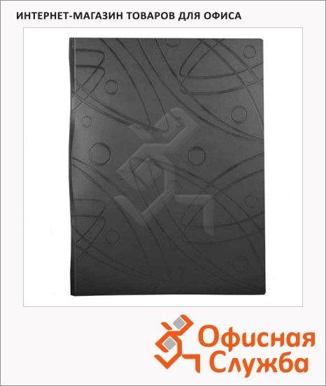 фото: Папка файловая Бюрократ Galaxy черная A4, на 20 файлов, GA20BLCK