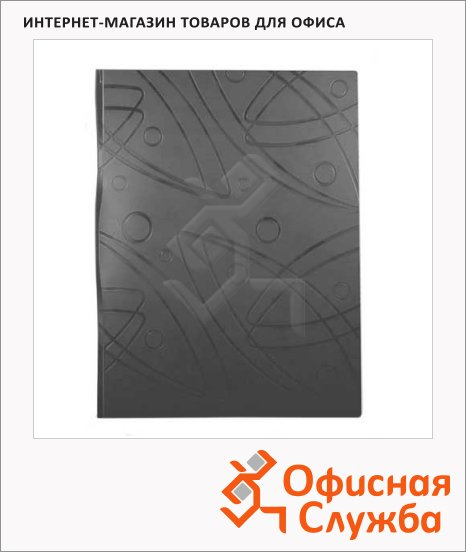 Папка на 2-х кольцах А4 Бюрократ Galaxy черная, 27 мм, GA0727/2Rblck