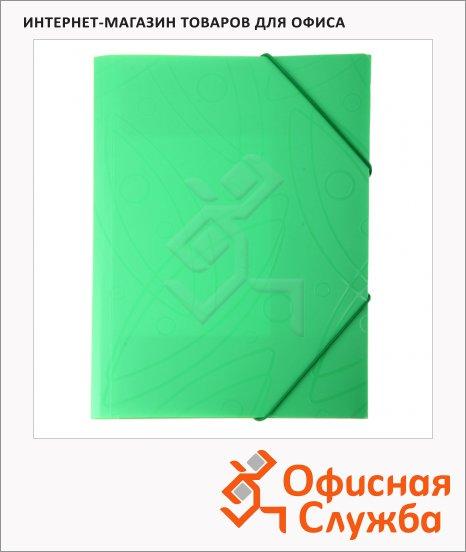 Пластиковая папка на резинке Бюрократ Galaxy салатовая, A4, GA510lett/816768