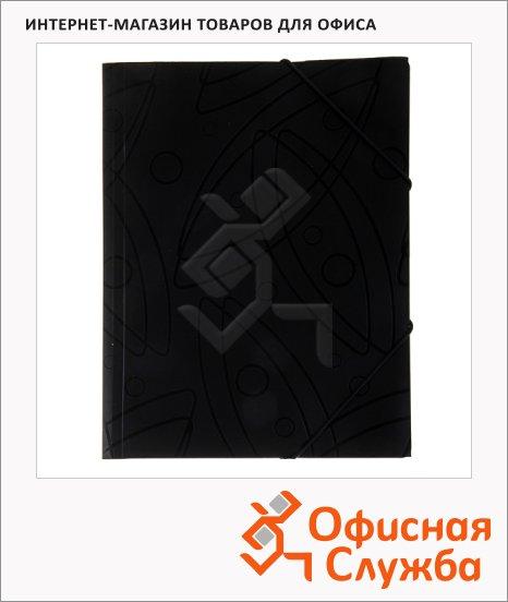 Пластиковая папка на резинке Бюрократ Galaxy черная, A4, GA510blck/816766