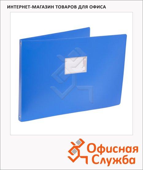 фото: Папка на 4-х кольцах А3 Бюрократ 0827GA3 синяя 27 мм, 0827GA3blu