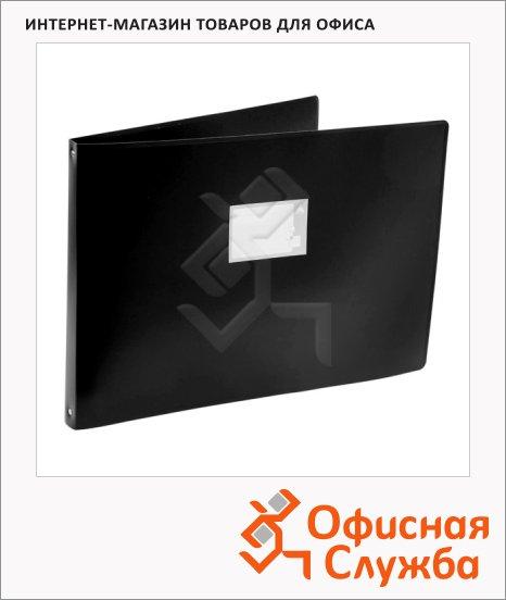 фото: Папка на 4-х кольцах А3 Бюрократ 0827GA3 черная 27 мм, 0827GA3blck