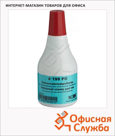 Штемпельная краска на спиртовой основе Noris 250 мл, универсальная, красная