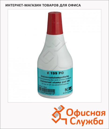 Штемпельная краска на спиртовой основе Noris 50 мл, универсальная, красная