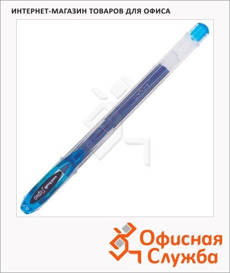 Ручка гелевая Uni UM-120 голубая, 0.7мм