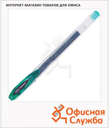 фото: Ручка гелевая Uni UM-120 зеленая 0.7мм