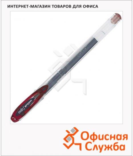 Ручка гелевая Uni UM-120 красная, 0.7мм
