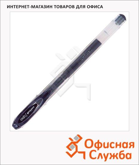 Ручка гелевая Uni UM-120 черная, 0.7мм