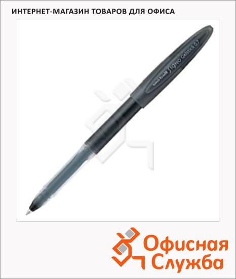 Ручка гелевая Uni UM-170 черная, 0.7мм