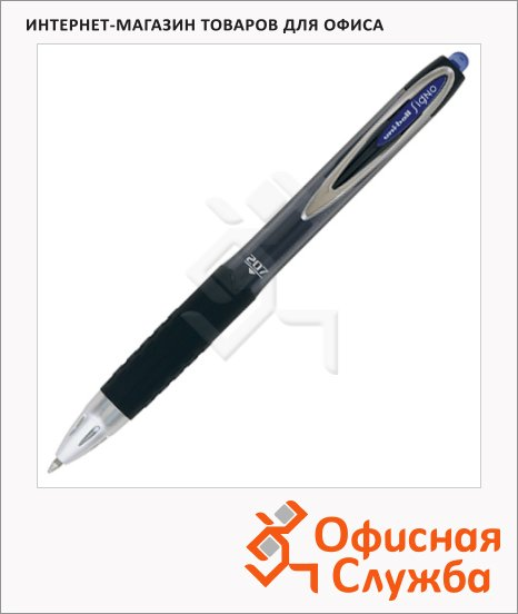фото: Ручка гелевая автоматическая Uni UMN-207 черная 0.7мм