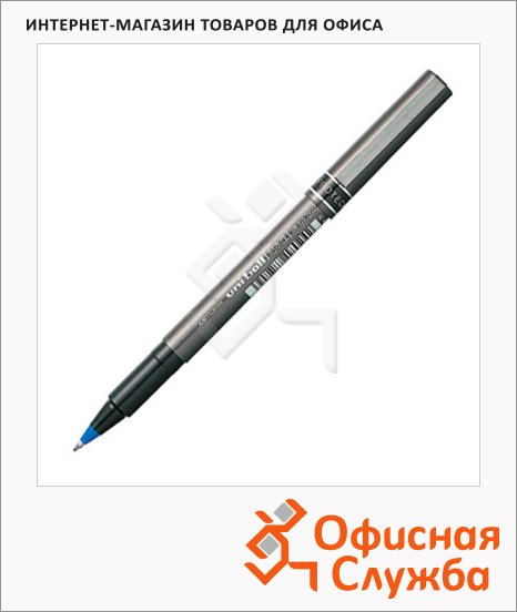 фото: Ручка-роллер Uni Ball micro DELUXE UB-155 синяя 0.5мм, 66247