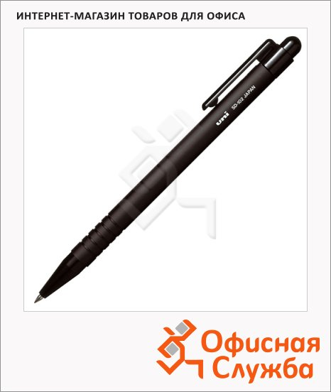 Ручка шариковая автоматическая Uni SD-102 черная, 0.5мм