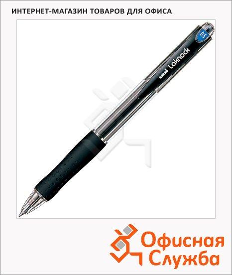 фото: Ручка шариковая автоматическая Uni Laknock SN-100 66269 черная 0.5мм