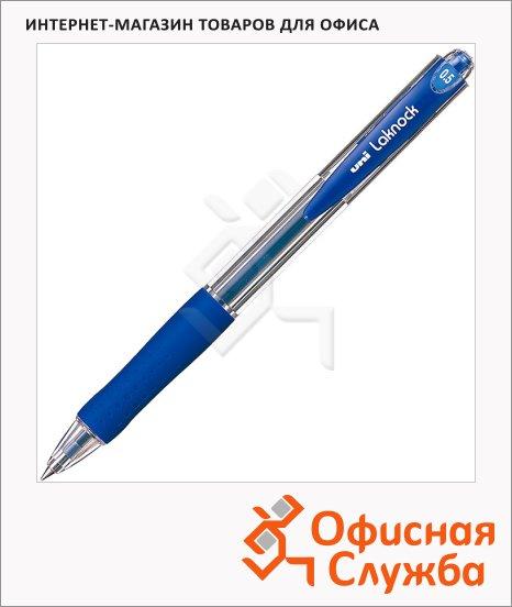 фото: Ручка шариковая автоматическая Uni Laknock SN-100 66269 синяя 0.5мм