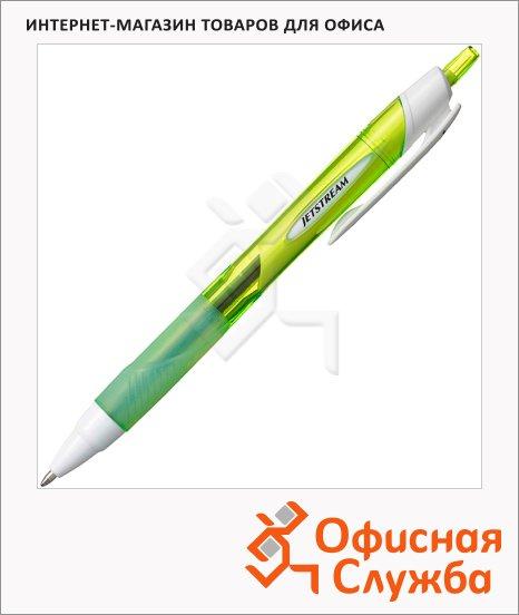Ручка шариковая автоматическая Uni Jetstream SXN-150RT черная, 1мм, зеленый корпус