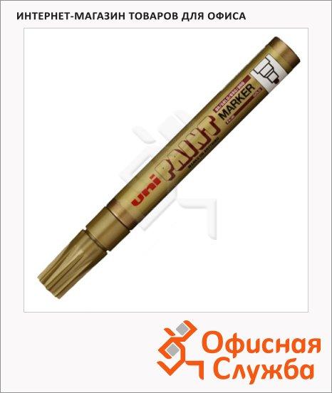 фото: Маркер промышленный перманентный Uni Paint PX-20 золотой 2.2-2.8мм, круглый наконечник