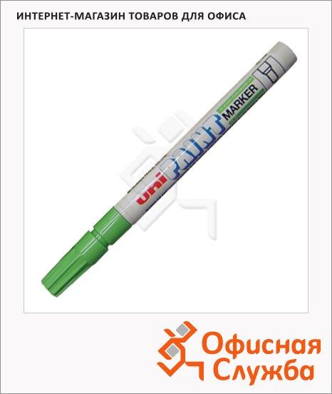 Маркер промышленный перманентный Uni Paint PX-21 салатовый, 0.8-1.2мм, круглый наконечник