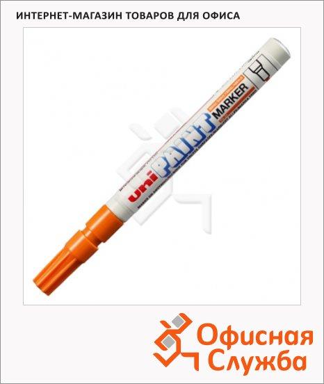 Маркер промышленный перманентный Uni Paint PX-21 оранжевый, 0.8-1.2мм, круглый наконечник