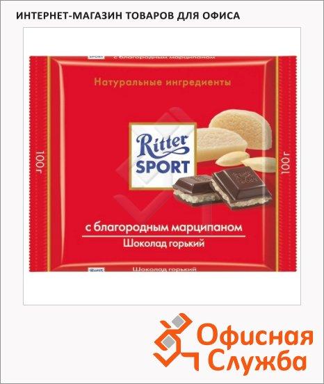 Шоколад Ritter Sport с марципаном, горький