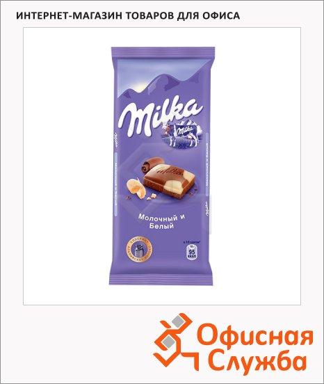 Шоколад Milka с белым, 90г