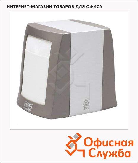 Диспенсер для салфеток Tork Fastfold N2, 271800, настольный, на 90шт, серый