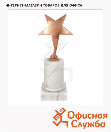 фото: Кубок металлический Звезда 8х8х18см мрамор с бронзой