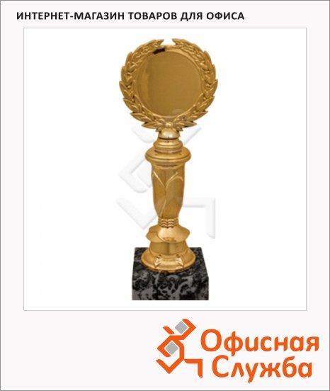 Кубок пластиковый Венец 8х6х21см, черный с золотом