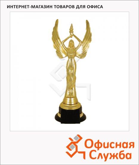Кубок пластиковый Ника 14х14х30см, черный с золотом