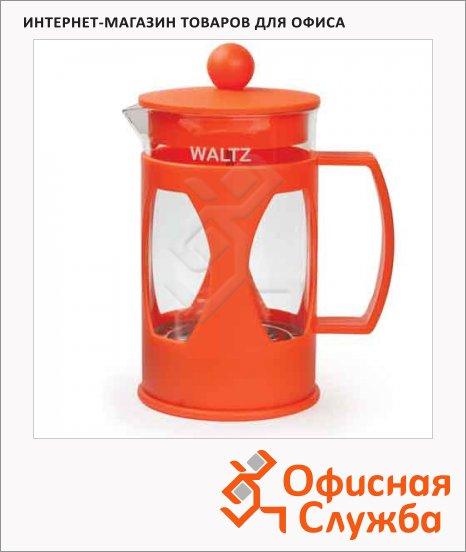 Чайник заварочный френч-пресс Waltz Мозаика ассорти, 600мл, стекло/пластик