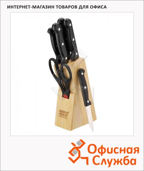 Набор ножей Bekker ВК-147 5 ножей, ножницы, подставка