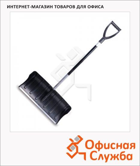 фото: Лопата-скрепер для снега Berchouse пластик 60х30см с алюминиевым черенком, высота 130см