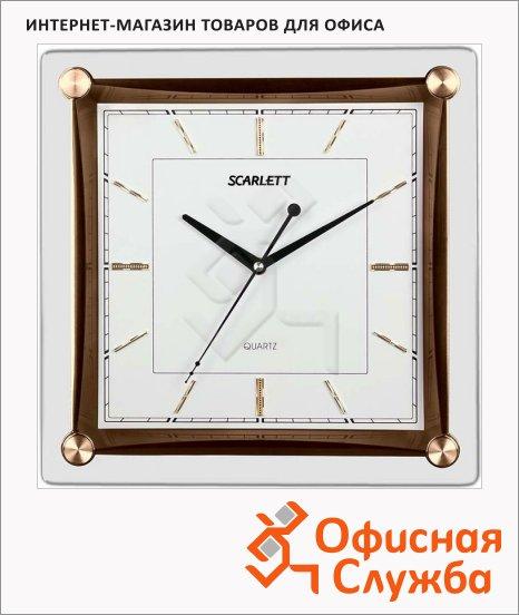 фото: Часы настенные SC-55GA белые 39х39 см, квадратные