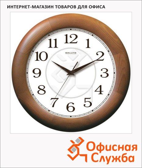 фото: Часы настенные коричневые d=31см, круглые, ДС-ББ28-014