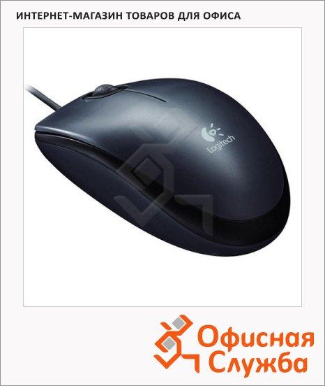 фото: Мышь проводная оптическая USB Logitech M90 1000dpi, черная
