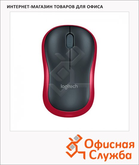 ���� ������������ ���������� USB Logitech Wireless Mouse M185, 1000dpi, �����-�������