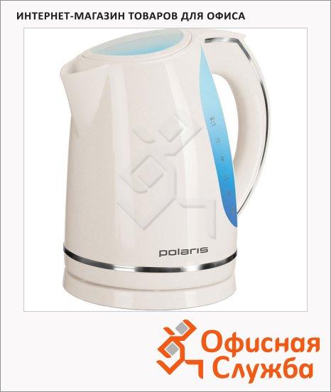 Чайник электрический Polaris PWK 1705CL белый, 1.7 л, 2200 Вт