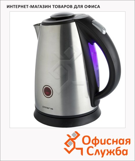 Чайник электрический Polaris PWK1765CAR металлик, 1.7 л, 2200 Вт