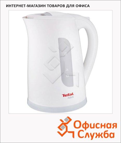 фото: Чайник электрический Tefal Aqua KO2701 белый 1.7 л, 2400 Вт