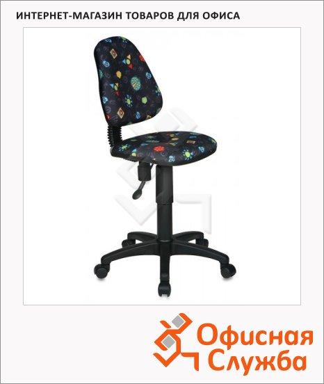 Кресло детское Бюрократ KD-4 ткань, серая, божьи коровки