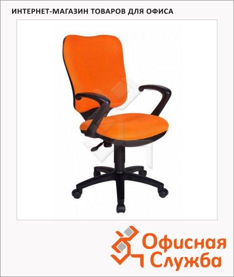 Кресло офисное Бюрократ CH-540AXSN ткань, крестовина пластик, оранжевая