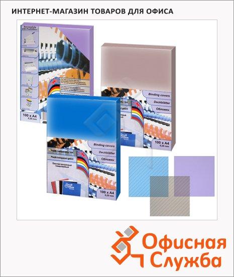 Обложки для переплета пластиковые Profioffice синие, А4, 200 мкм, 50шт, 59045
