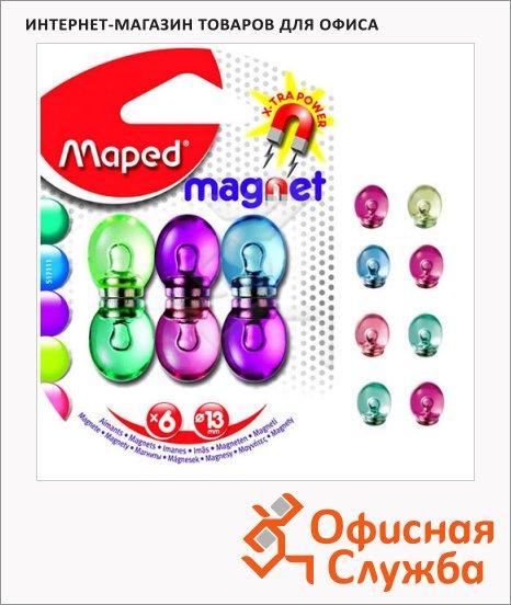 Магниты Maped d=13мм, 6шт/уп, ассорти, 517111